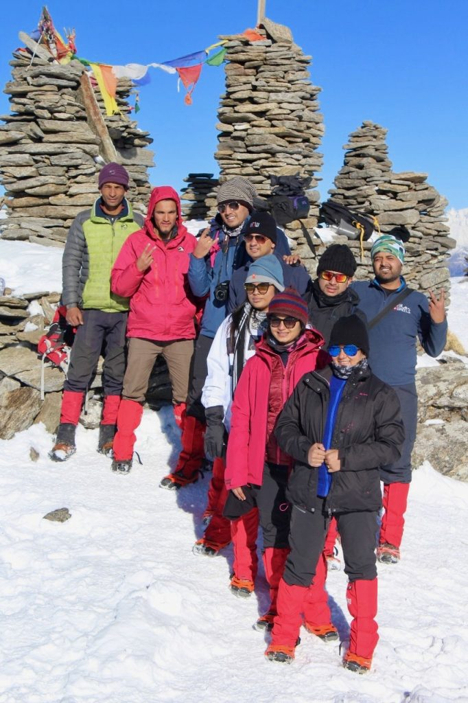 At Kedarkantha Summit