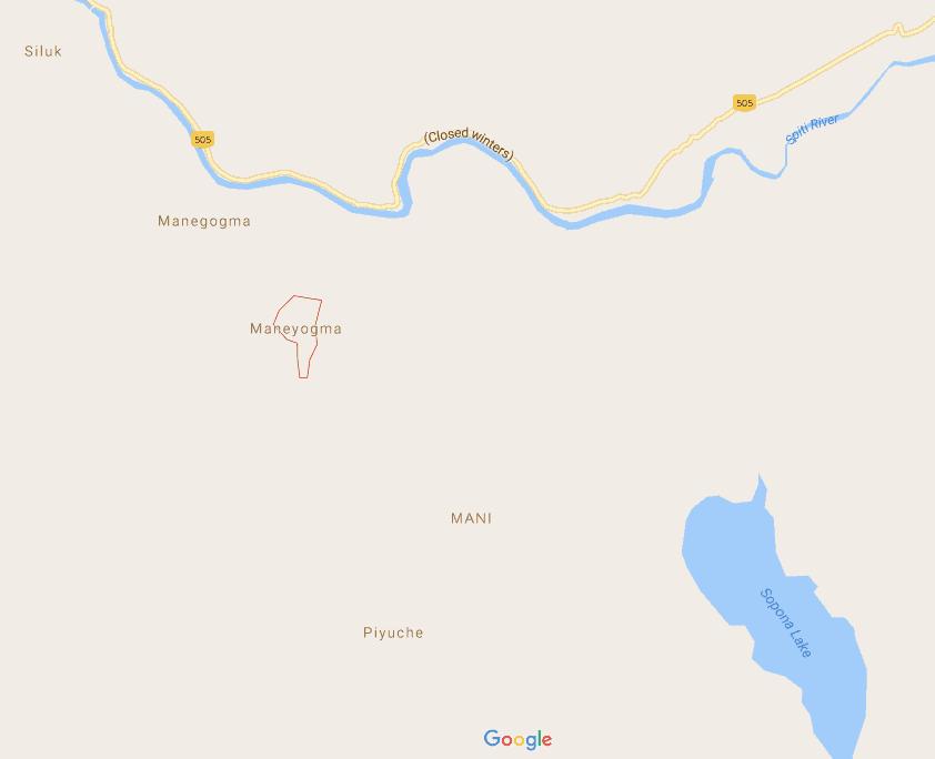Sopona Lake Route Map