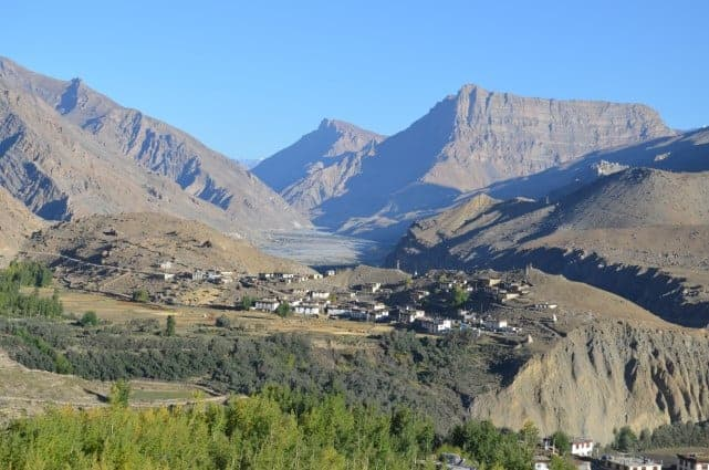 Mane - Manegogma village as seen from trek to Sopona lake