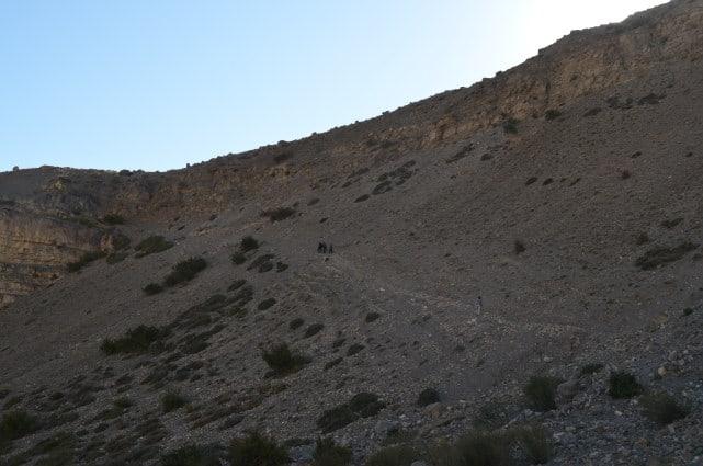 The trek route to Sopona lake
