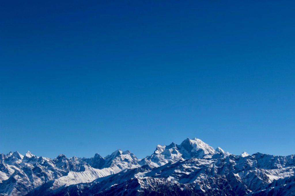 Views of Swargarohini from Kedarkantha Peak