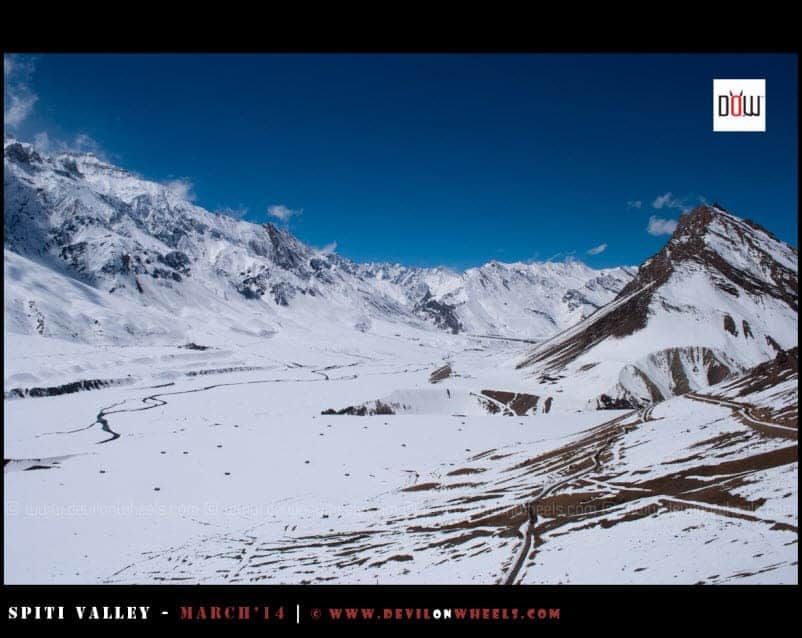 Breathtaking Snow filled views from Key Monastery - Spiti Valley in Winters