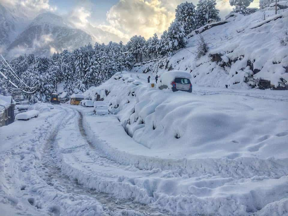 Road Conditions on a trip to Spiti in Winter on some days