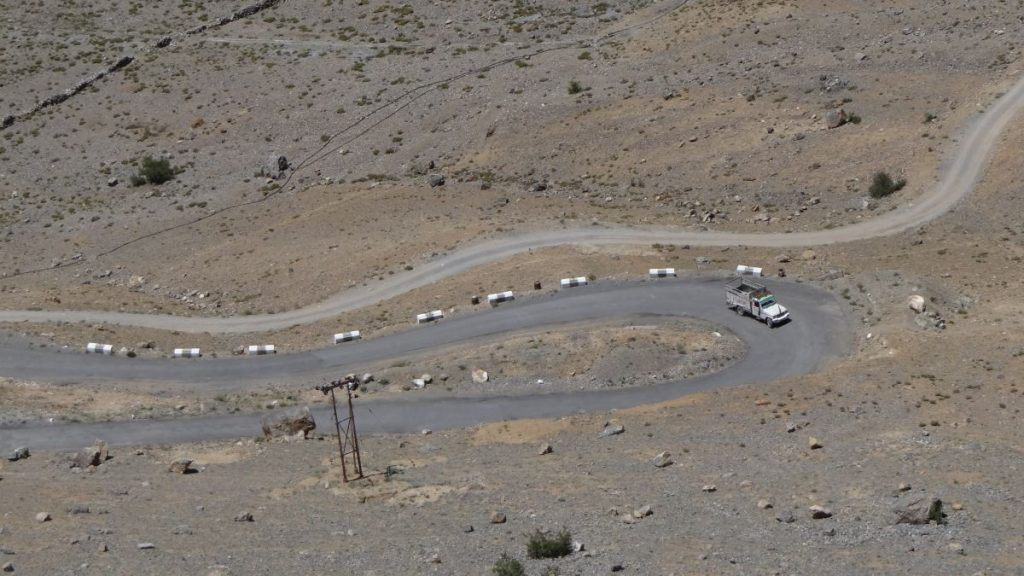 Spiti valley road leading to Kibber