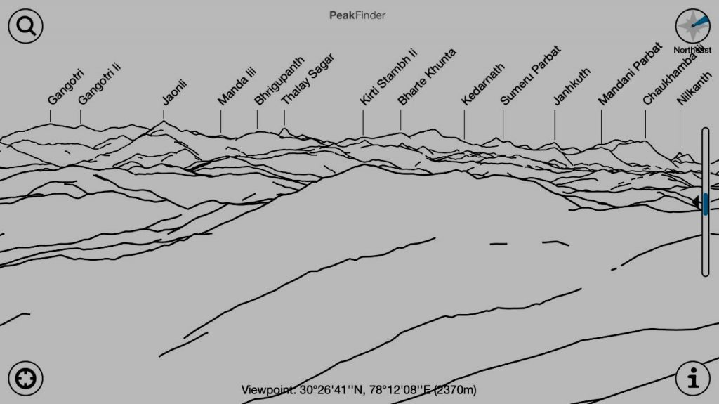 List of peaks visible from Buraanshkhand