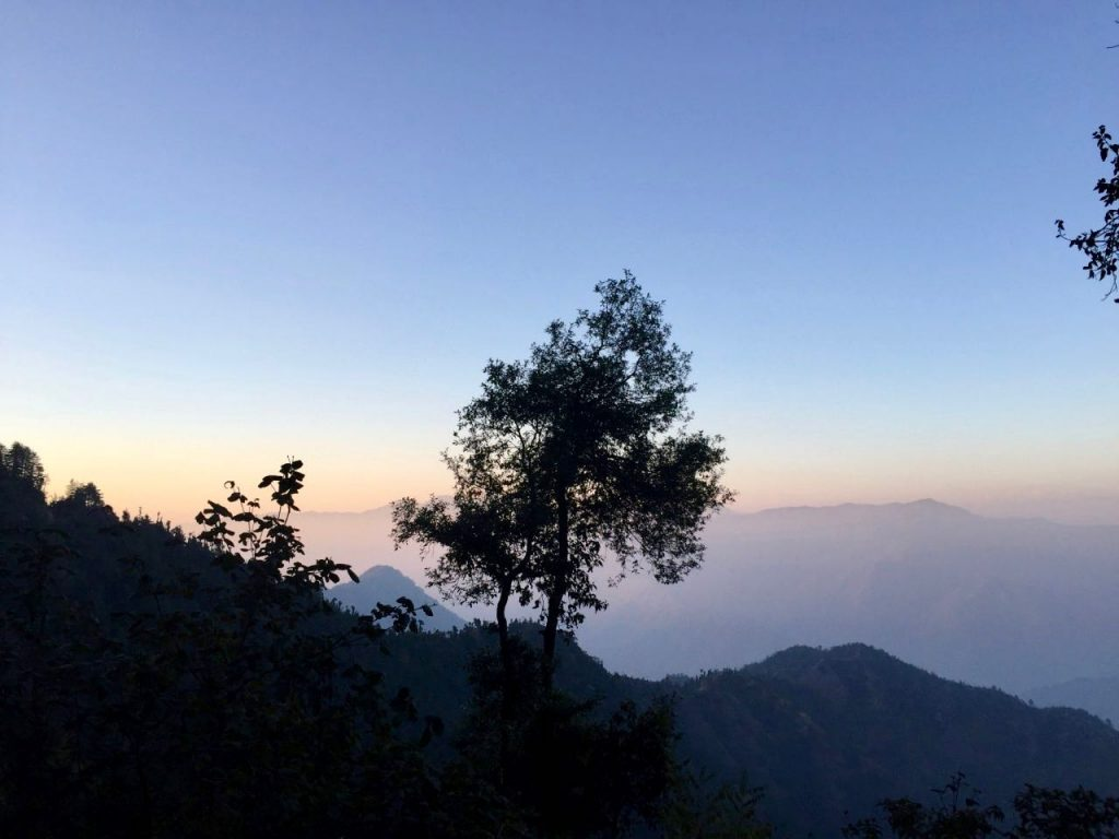Sunset Time near Mussoorie