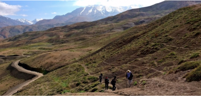 Trekking to Chandratal from Kunzum Pass