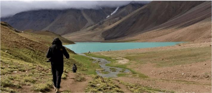 That walk to Chandratal Lake