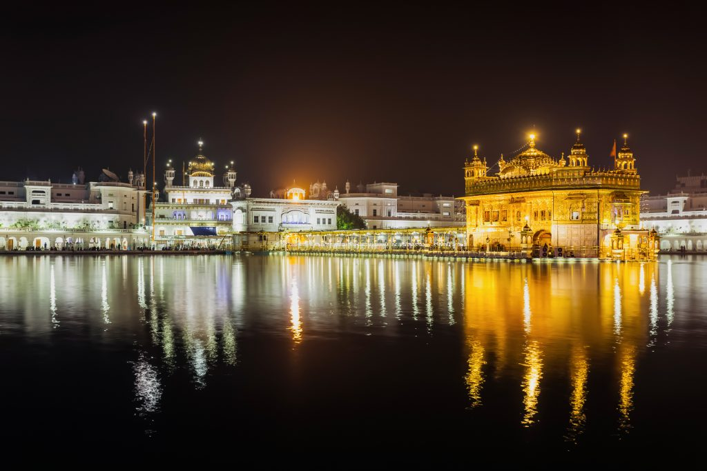 The beauty of the Golden Temple at Night