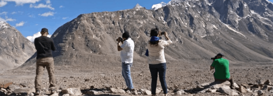 Having fun in clicking photos in Spiti Valley