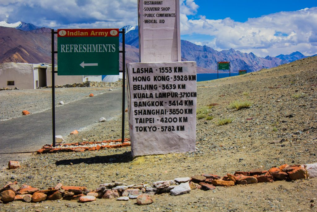 Anyone game for Shanghai trip! - Outside Army Canteen at Lukung (Pangong)