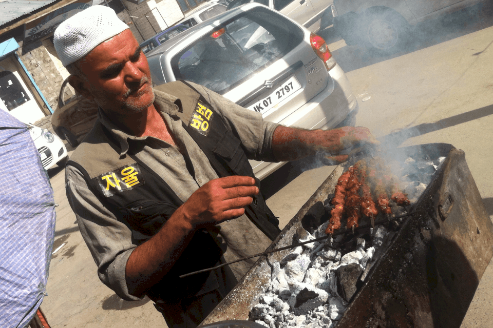 Kebabs at Kargil