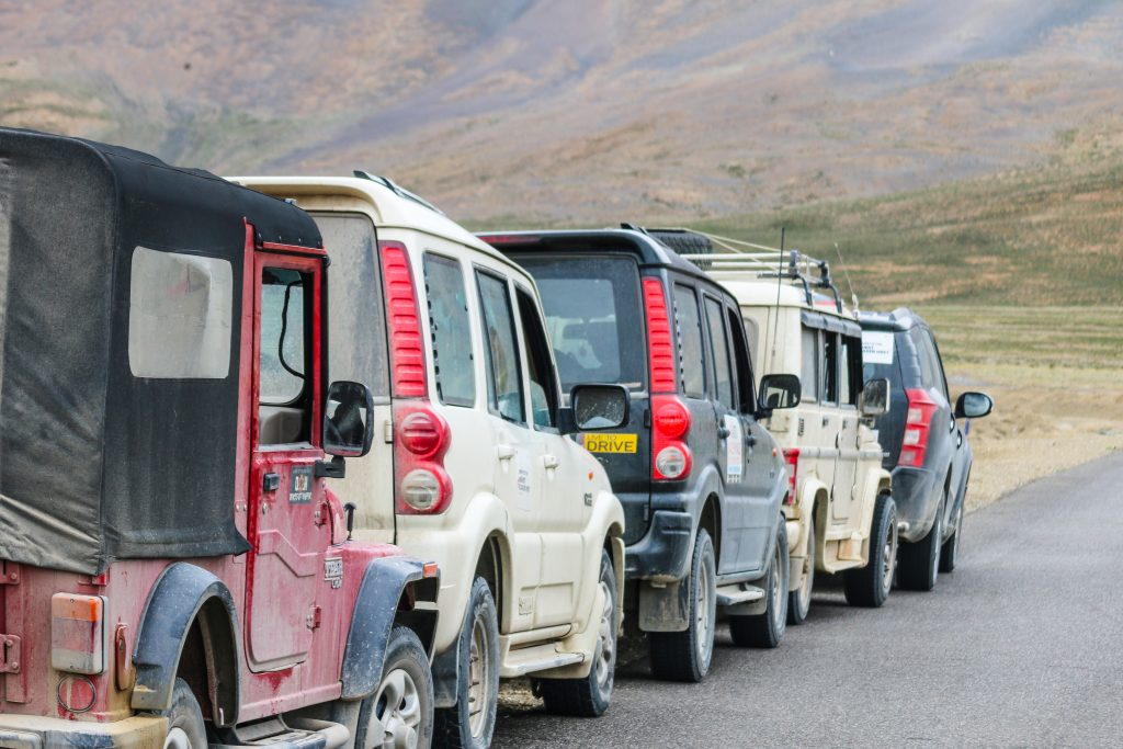 Drive in the safety of a convoy