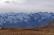 Snow peaks as seen from Hikkim Village