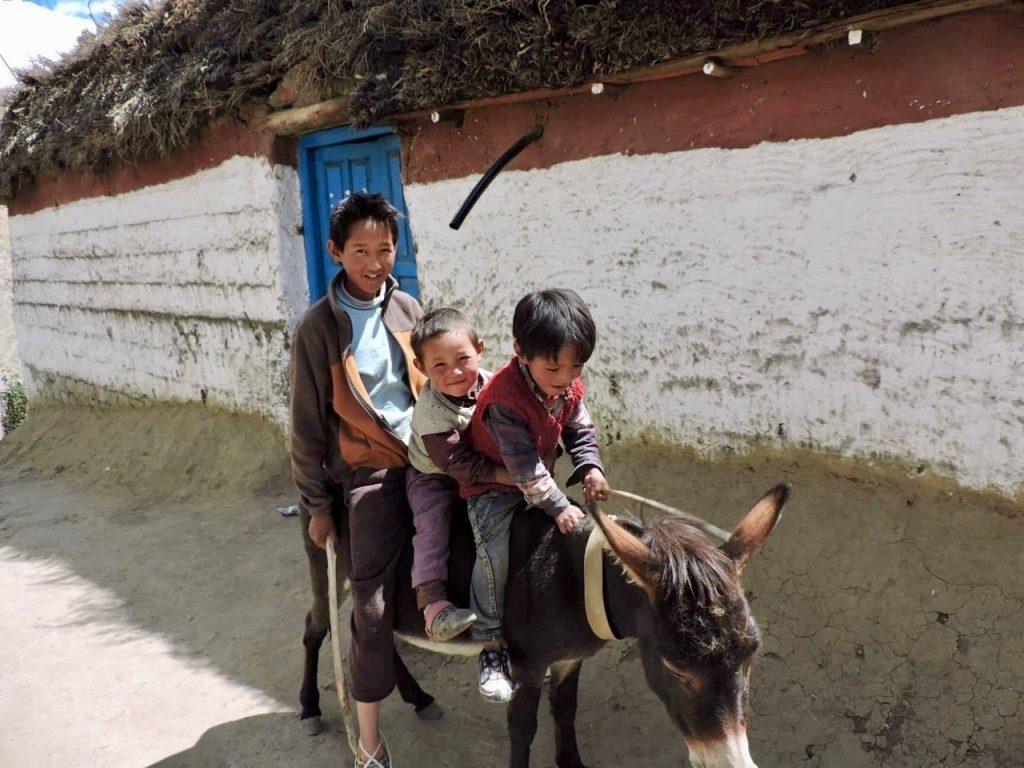 Kids in Hikkim Village