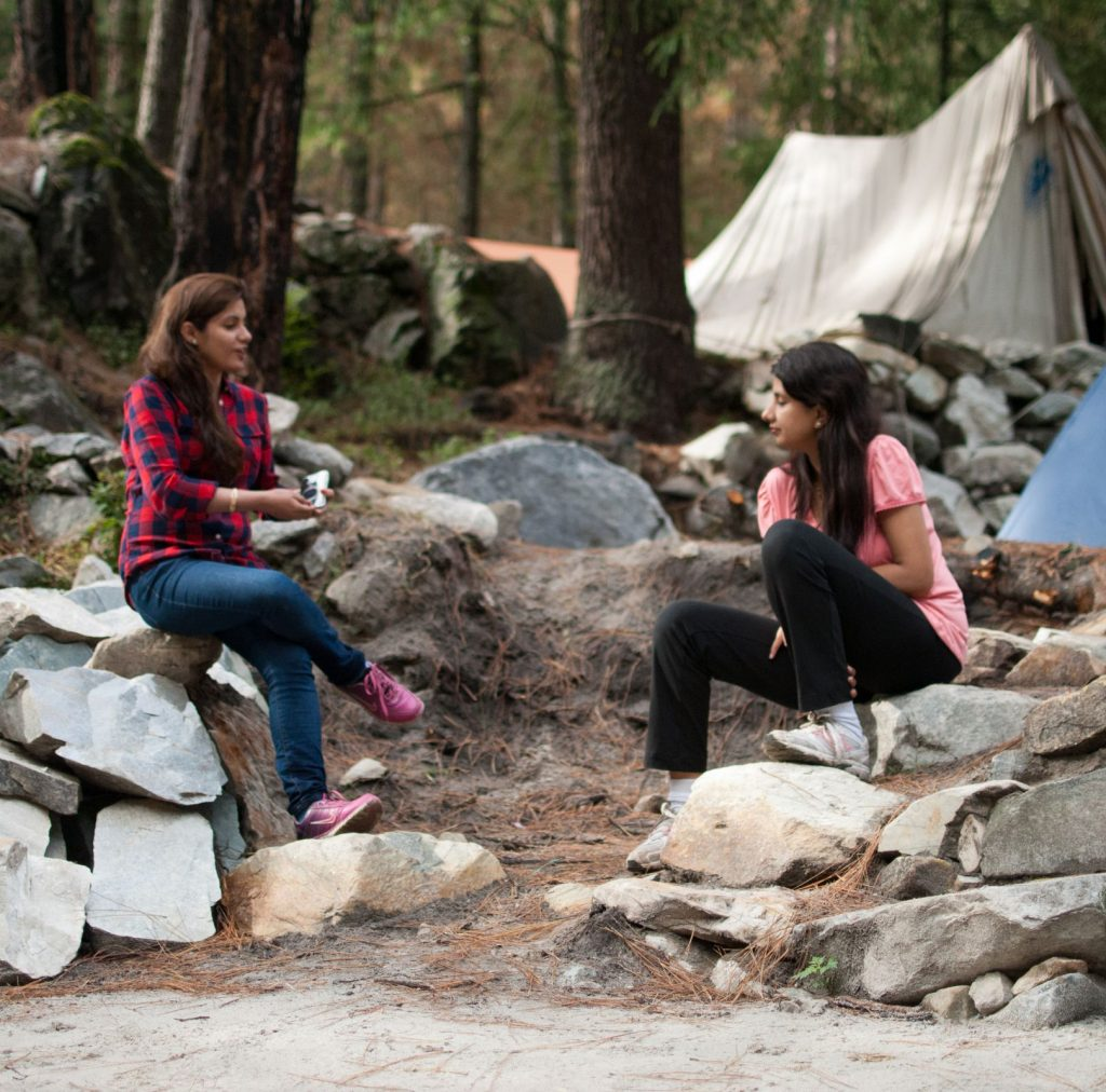 Chilling time in while camping on a Kasol trip