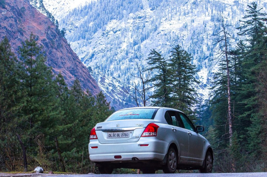 That's my car on a trip to Kasol