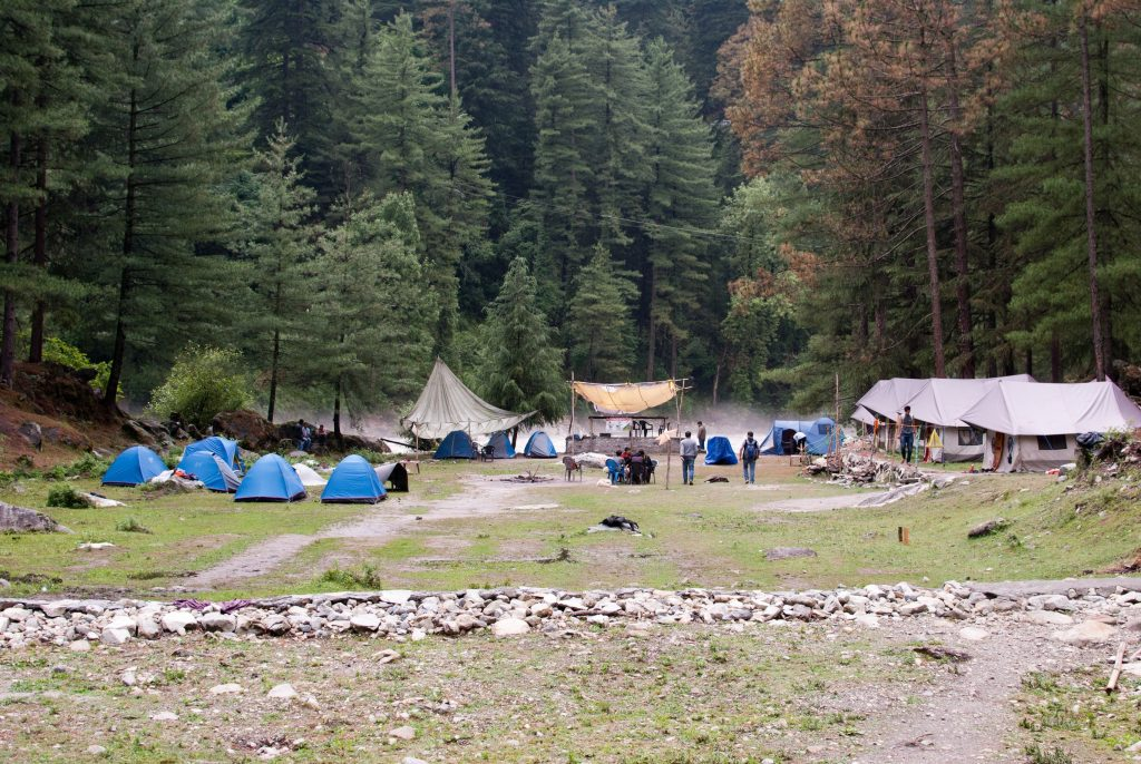 Camping on a trip to Kasol