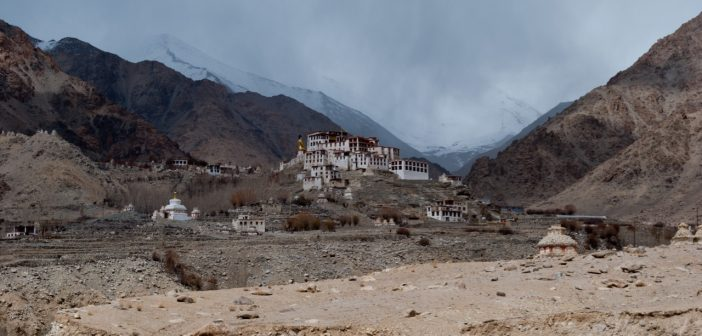 Likir Monastery, sitting on top of a hill