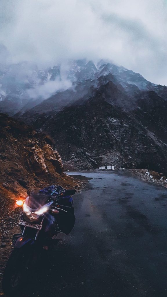 The mountain looked like the end in Kinnaur