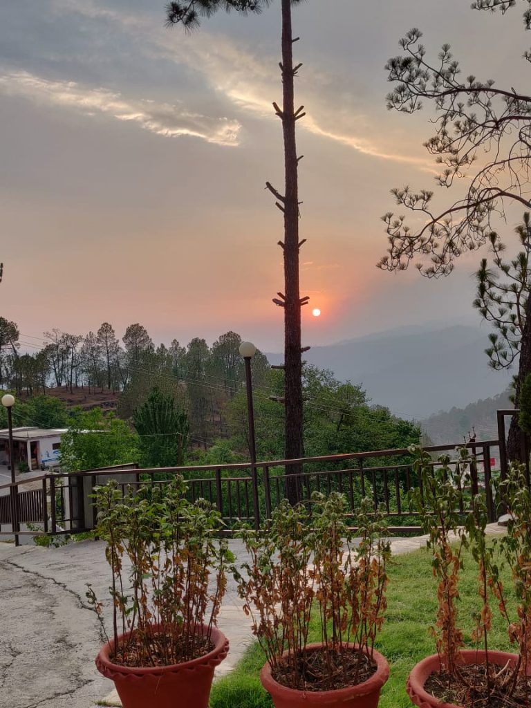 Another view of Sunset in Kumaon hills