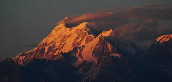 Sunset over Trishul Peak