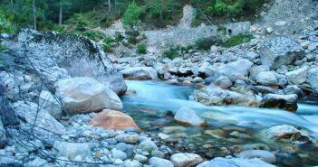 Silky waters of Tirthan near Sainj