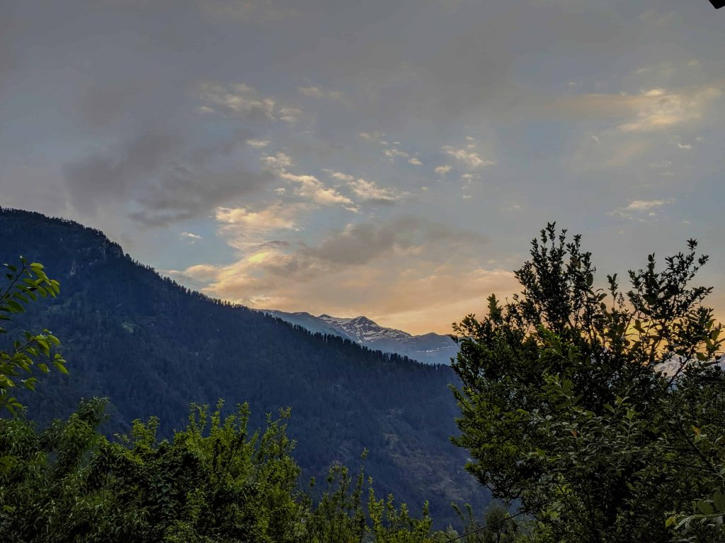 Sunset on my last weekend trip to Kasol
