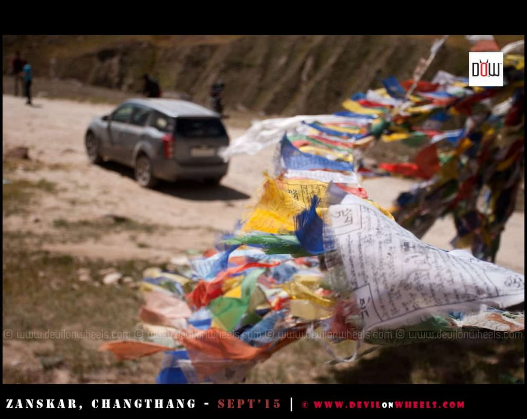 Prayer Flags on my Zanskar Valley Valley budget trip
