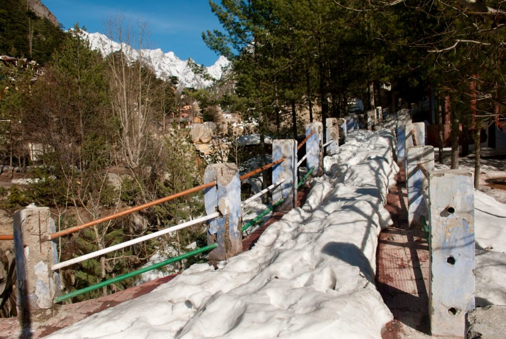 Snow near Gangotri Temple