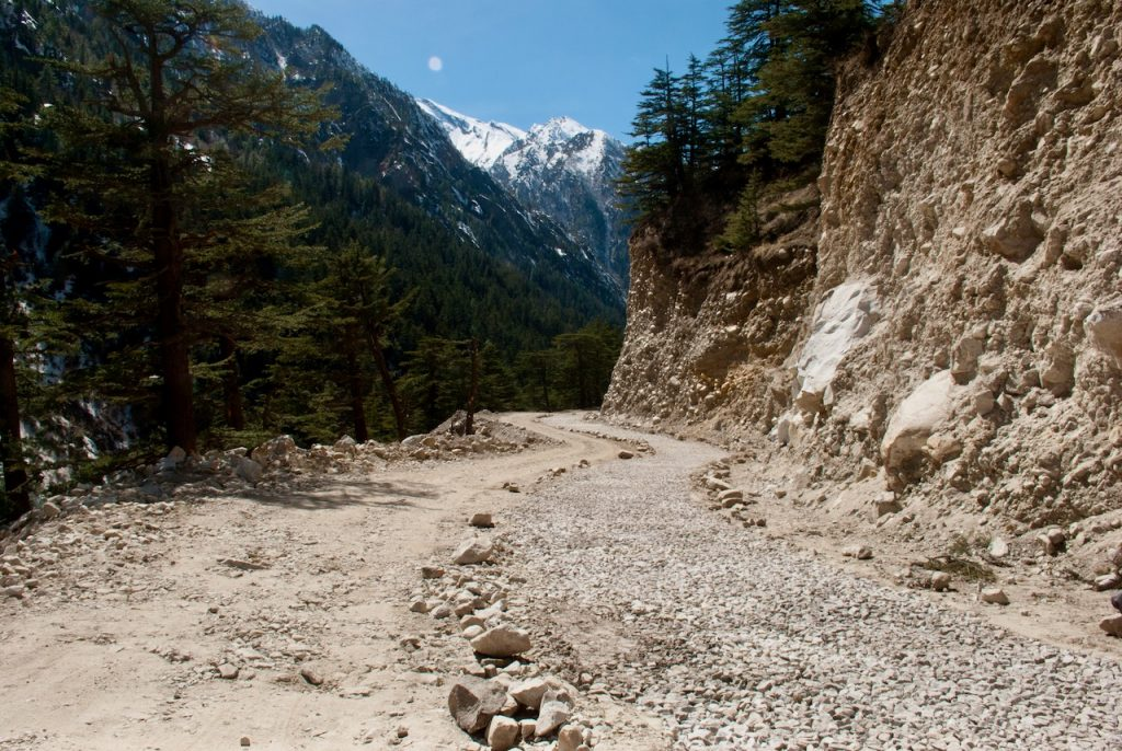 Road conditions between Gangotri Harsil Nelong Valley