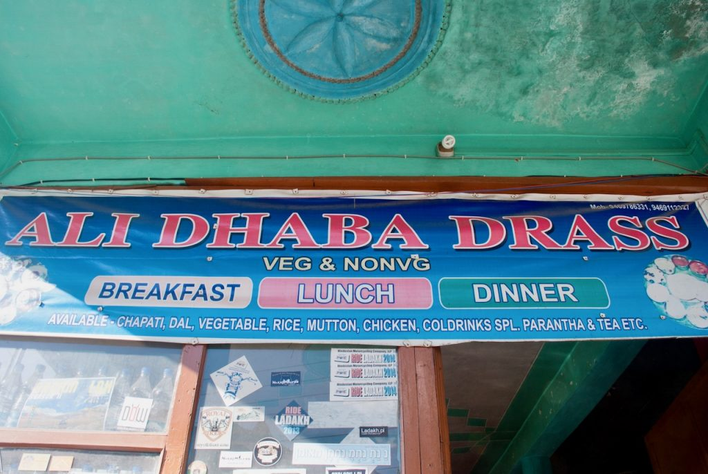 Ali Dhabha - Drass at Srinagar Leh Road (Can you spot Devil On Wheels?)
