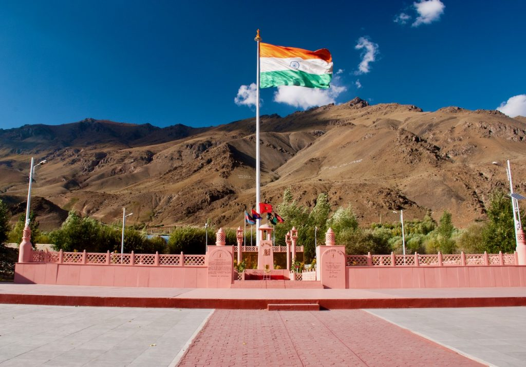 Indian Flag at Kargil War Memorial