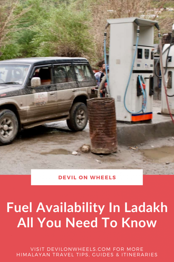 Petrol Availability in Ladakh Road Trip