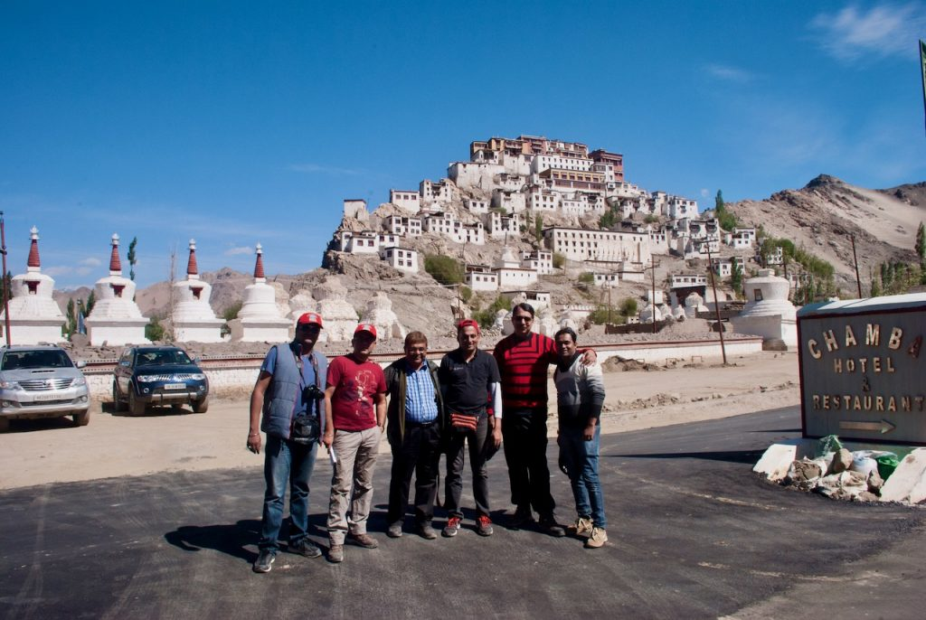 That is Devil On Wheels gang at Thiksey Monastery