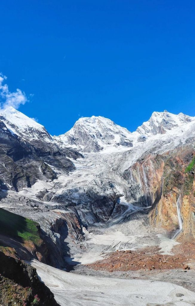The glaciers up there in Dharma Valley