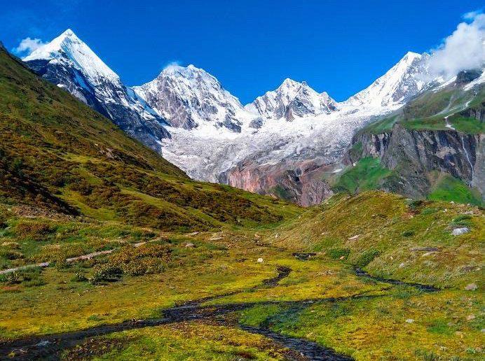 Beautiful Himalayan views as seen from Darma Valley trek