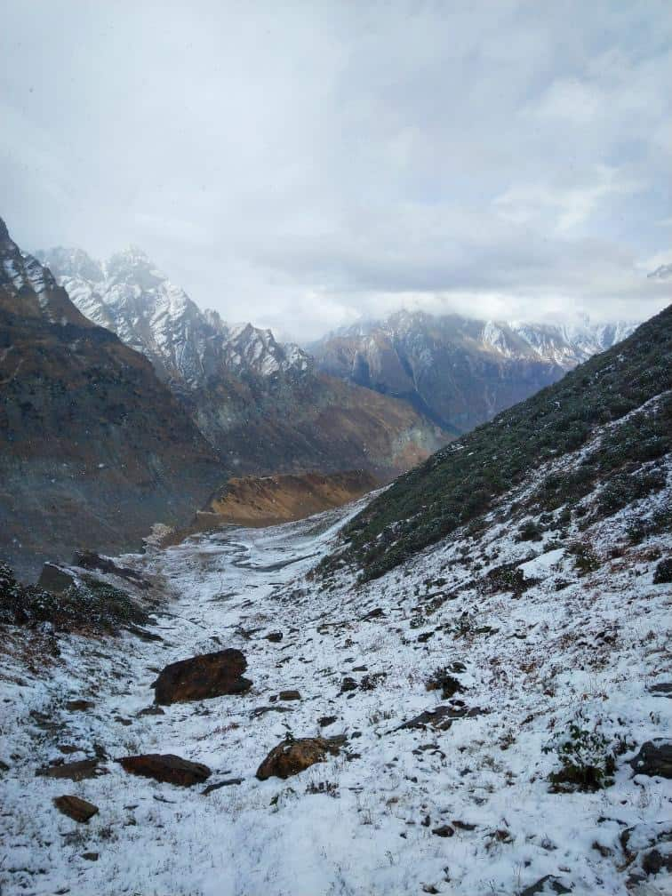 Snow in Dharma Valley