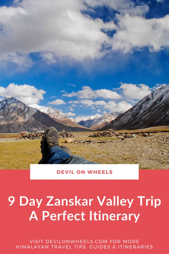 9 Day Trip to Zanskar Valley from Leh