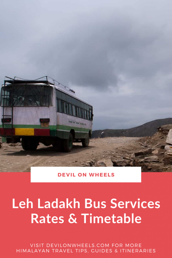Looking for Leh Ladakh bus services timetable?
