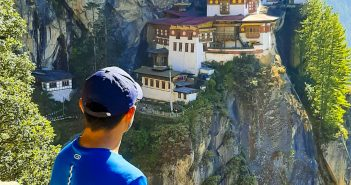 The view of Taktshang Goemba or Tiger's Nest Monastery