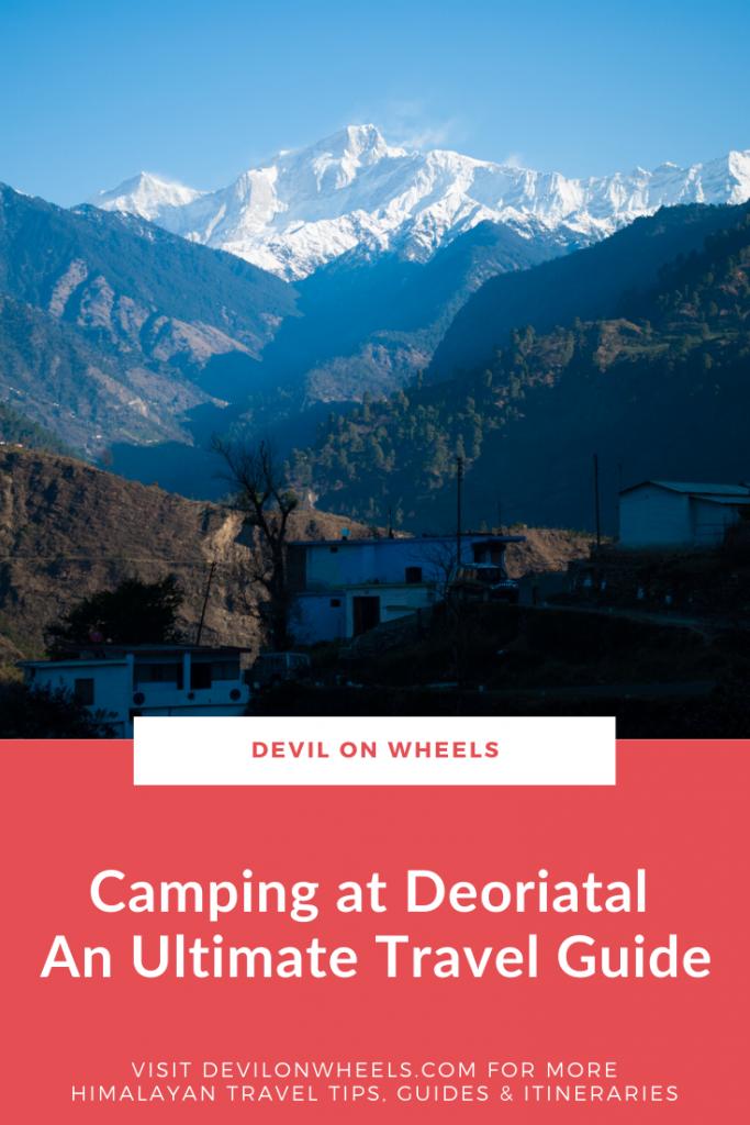 Camps at Deoriatal Lake