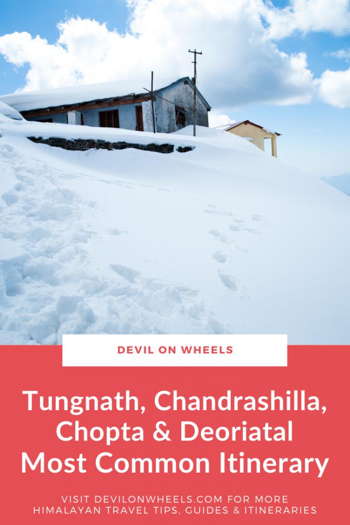 Most Popular Itinerary for Tunganth, Chandrashilla, Deoriatal trek