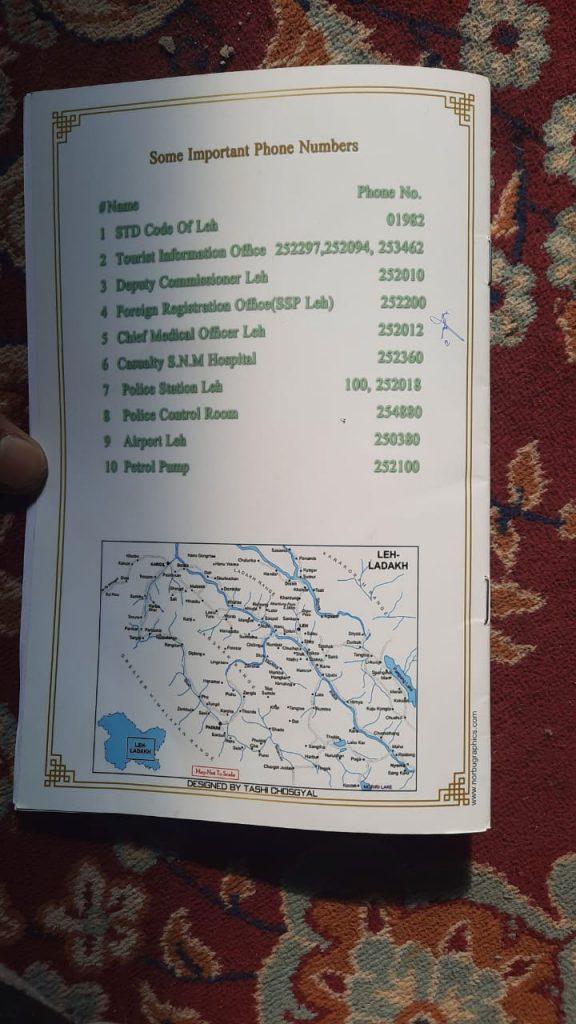 Leh Ladakh Important Contact Numbers