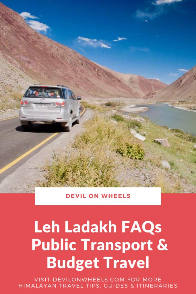 Leh Ladakh FAQs - Public Transport & Budget Travel
