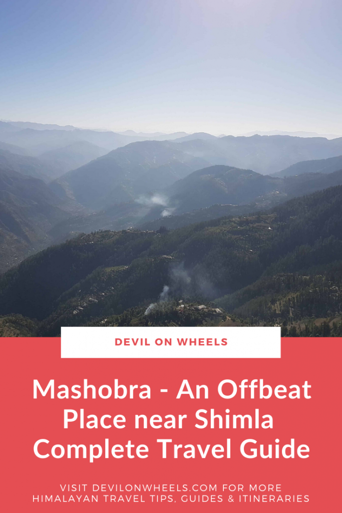 Mashobra - An offbeat place near Shimla