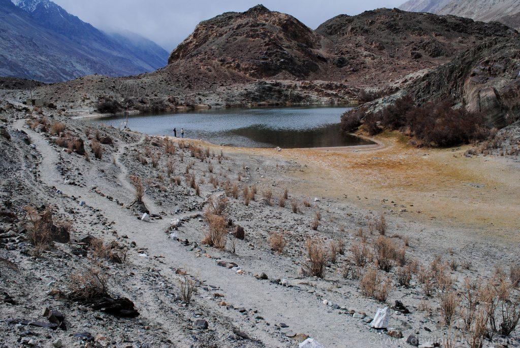 Yarab Tso Lake near Panamik in Nubra Valley