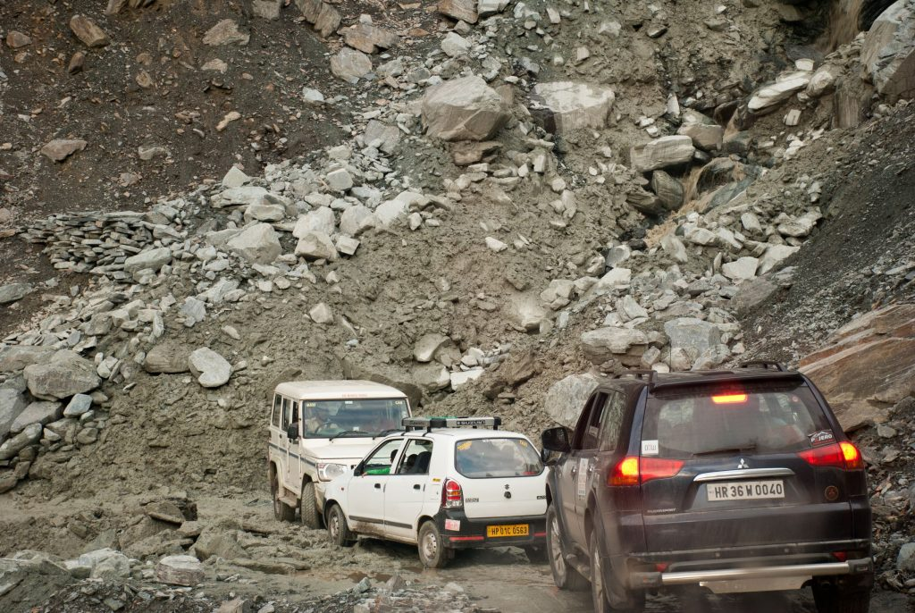 Barely existing roads towards Sach Pass