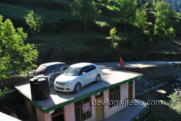 Parking at Raja Guest House, Shoja