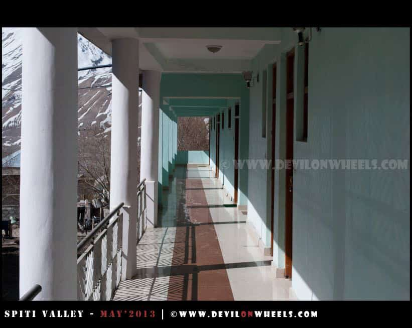 Corridor at Snow Lion Kaza